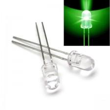 Žalias skaidrus 5mm šviesos diodas