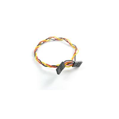3 laidų kabelis, kontaktai: 2.54(F)-2.54(F), 20 cm