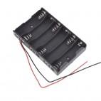 6xR6-AA bateriju laikiklis