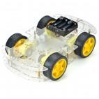 4WD dviejų pagrindų roboto korpusas