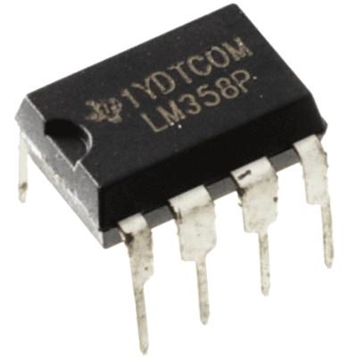 LM358P (dvigubas operacinis stiprintuvas)
