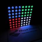 RGB šviesos diodų matrica (60mm)