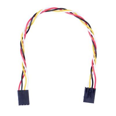4 laidų kabelis, kontaktai: 2.54(F)-2.54(F), 20 cm