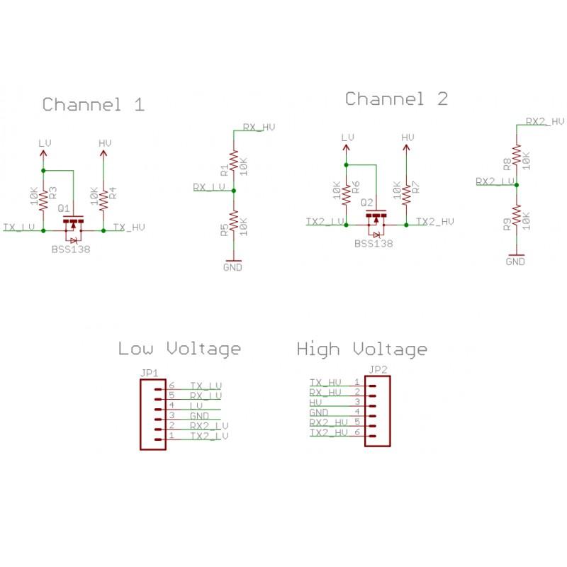 logic level converter  i2c  uart  5v