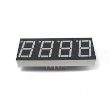 """Four digit numeric LED display (0.56"""", common Anode)"""