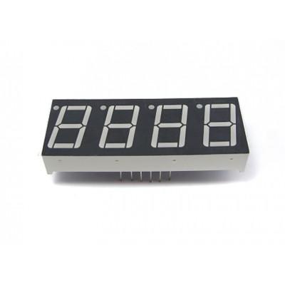 """Keturių skaitmenų LED indikatorius (0.56"""", bendras katodas)"""