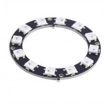 Dvylikos RGB šviesos diodų žiedas