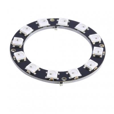 12 RGB šviesos diodų žiedas