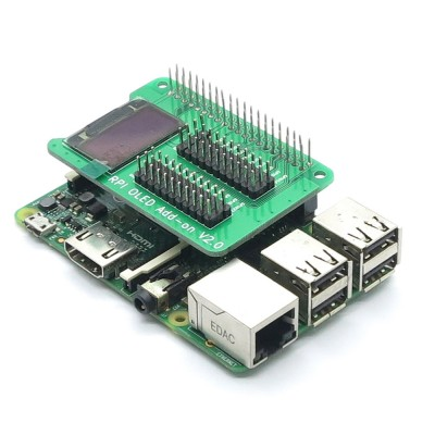 "Raspberry PI 0.9"" OLED  ekrano priedėlis"