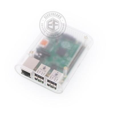 Raspberry PI 2/3 korpusas (plasmasinis, permatoma)