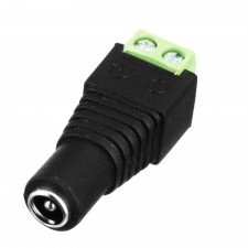 5.5*2.1mm Female Jack to Two Screw Pin DC Power Cord Connector Adapter HG2818