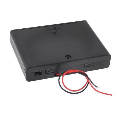 6 AA baterijų dėžutė su jungikliu