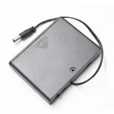 6 AA baterijų dėžutė su jungikliu ir arduino jungtimi