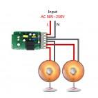 WiFi valdoma dviguba relė (Sonoff dual)