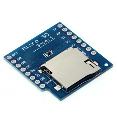 WeMos D1 microSD kortelės priedėlis