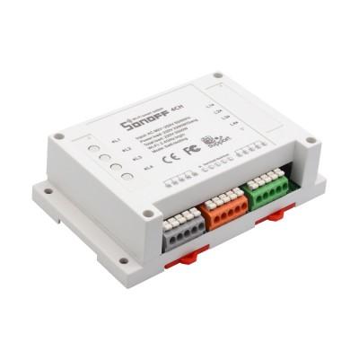 WiFi 4 relių blokas su DIN montavimu (Sonoff 4CH)