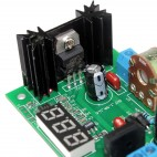DC/DC, AC/DC step-down modulis su LED indikatoriumi (LM317, 1.25V - 28V)