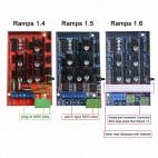 RAMPS 1.6 3D spausdintuvo valdiklis (priedėlis Mega2560 plokštei)