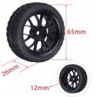 Soft rubber wheel (63mmx24mm)