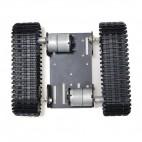 Aliumininė vikšrinė roboto važiuoklė (193x163x60mm)