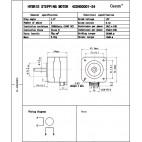 Žingsninis variklis 42SHD0001,  Nema 17 (12V)