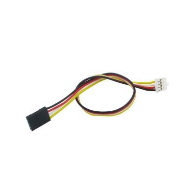 4 laidų kabelis, kontaktai: 2.54(F)-Grove(F), 20 cm