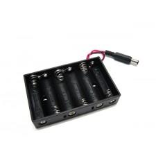 Bateriju 6xR6-AA laikiklis (su jungtimi)