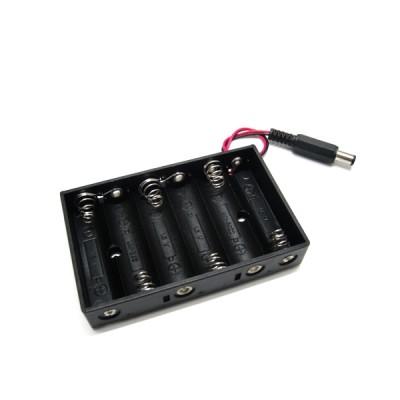 6xR6-AA bateriju laikiklis (su jungtimi)