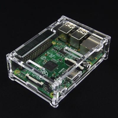 Plastikinis permatomas korpusas skirtas Raspberry Pi 2