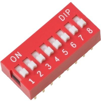 Šliaužiklinis jungiklis 8 kontaktų