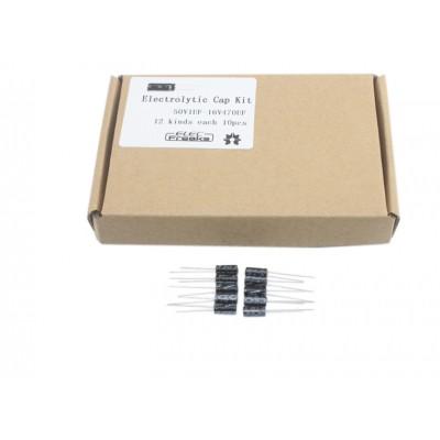 Elektrolitinių kondensatorių rinkinys (120 vnt.)