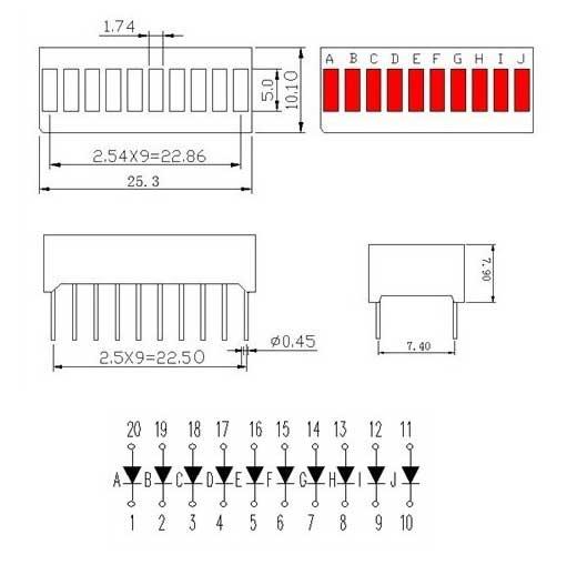 LED bar scheme